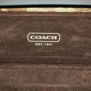 Coach Bags - Coach tan signature sunglass case!